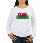 Welsh Flag Women's Long Sleeve T-Shirt