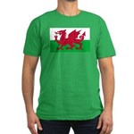 Welsh Flag Men's Fitted T-Shirt (dark)