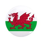 Welsh Flag 3.5&quot; Button