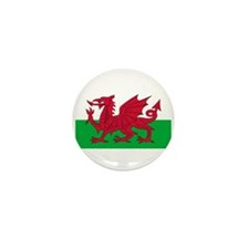 Welsh Flag Mini Button (10 pack)