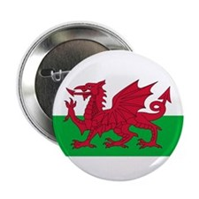 "Welsh Flag 2.25"" Button"