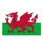 Welsh Flag Postcards (Package of 8)