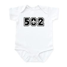 502 Black Infant Bodysuit