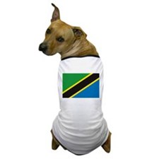 Tanzania Flag Dog T-Shirt