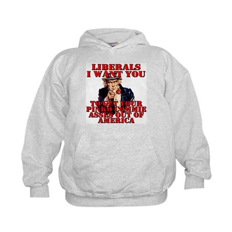 Anti Pinko Commie Liberals Kids Hoodie