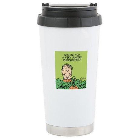 Sincere Pumpkin Patch Ceramic Travel Mug