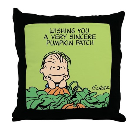 Sincere Pumpkin Patch Throw Pillow