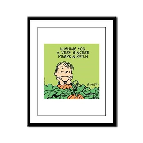 Sincere Pumpkin Patch Framed Panel Print