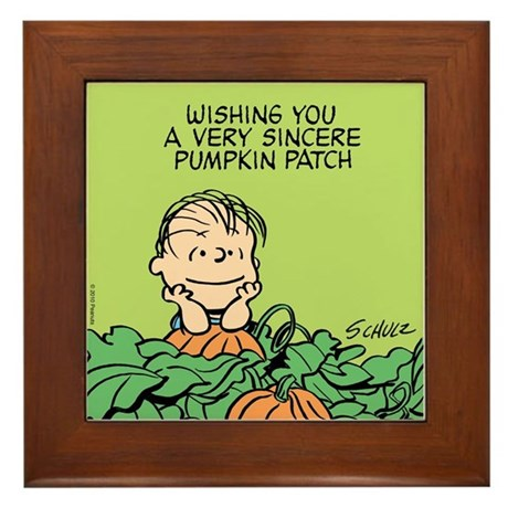 Sincere Pumpkin Patch Framed Tile