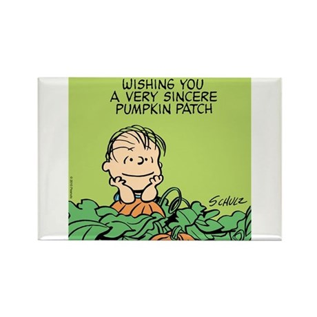 Sincere Pumpkin Patch Rectangle Magnet