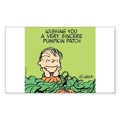 Sincere Pumpkin Patch Sticker (Rectangle)