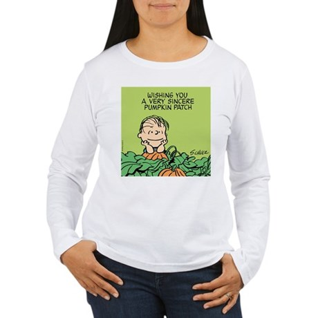 Sincere Pumpkin Patch Women's Long Sleeve T-Shirt