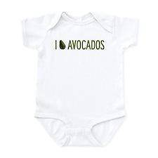 I Love Avocados Onesie