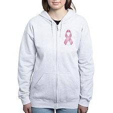Pink Ribbon Breast Cancer Women's Zip Hoodie