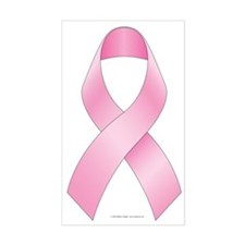 Breast Cancer Ribbon Sticker (Rectangle)