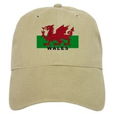 Welsh Flag (labeled) Baseball Cap