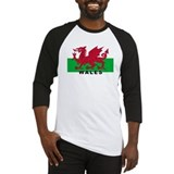 Welsh Flag (labeled) Baseball Jersey