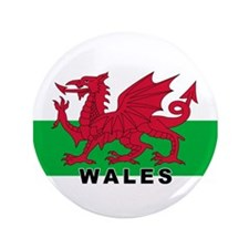 "Welsh Flag (labeled) 3.5"" Button"