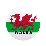 Welsh Flag (labeled) 3.5&quot; Button (100 pack)