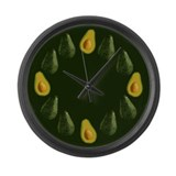 Avocados Large Wall Clock
