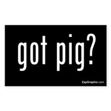 Got Pig Sticker (Rectangular, Black)