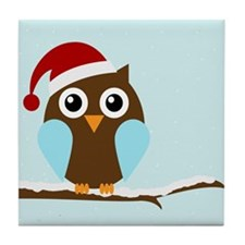 Holiday Owl Tile Coaster
