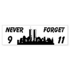Never Forget 9 11 Custom Bumper Sticker