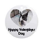 HAPPY VALENTINES DAY (BOSTON TERRIER) Ornament (Ro
