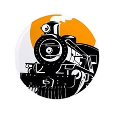 "Cute Locomotive 3.5"" Button"