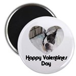 HAPPY VALENTINES DAY (BOSTON TERRIER) Magnet
