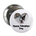HAPPY VALENTINES DAY (BOSTON TERRIER) Button