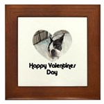 HAPPY VALENTINES DAY (BOSTON TERRIER) Framed Tile