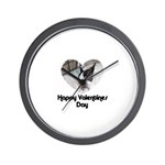 HAPPY VALENTINES DAY (BOSTON TERRIER) Wall Clock
