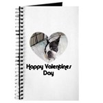 HAPPY VALENTINES DAY (BOSTON TERRIER) Journal