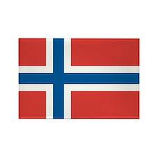 Norway/Norwegian Flag Rectangle Magnet