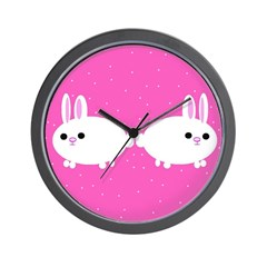 Cute Fluffy Rabbit Wall Clock