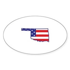 OK USA Flag Map 1 Decal