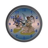 Blue Wing  Wall Clock