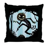 Sneaky Punkin Man Throw Pillow