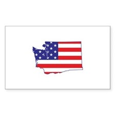 WA USA Flag Map 1 Decal