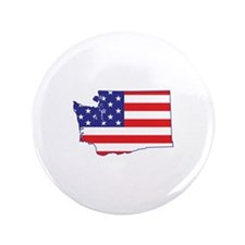 "WA USA Flag Map 1 3.5"" Button"