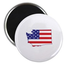 "WA USA Flag Map 1 2.25"" Magnet (100 pack)"