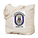 USS Maryland SSBN 738 Tote Bag