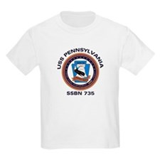 USS Pennsylvania SSBN 735 Kids T-Shirt