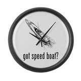Speed Boat 1 Large Wall Clock
