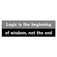 Star Trek Logic Quote Bumper Sticker