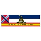Dont Tread on Me Mississippi Bumper Sticker