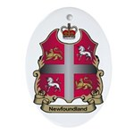 Newfoundland Shield Oval Ornament