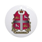 Newfoundland Shield Ornament (Round)