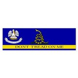 Dont Tread on Me Louisiana Bumper Sticker